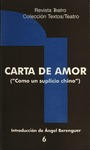 """Carta de amor (""""Como un suplicio chino"""") by Fernando Arrabal and Ángel Berenguer"""